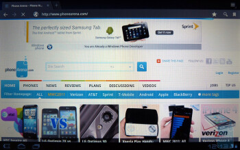 The web browser closely resembles Google Chrome - Motorola XOOM Review