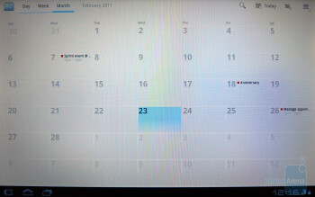 The Calendar app - Motorola XOOM Review
