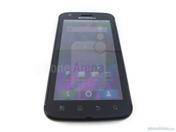 "The Motorola ATRIX 4G has a 4"" qHD LCD display - Motorola ATRIX 4G Review"