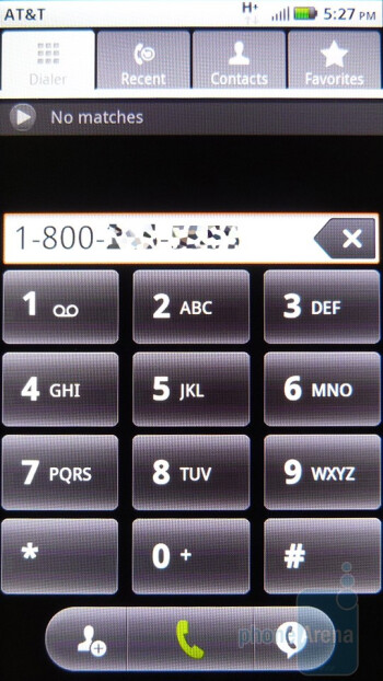 Dialpad - The address book of the Motorola ATRIX 4G - Motorola ATRIX 4G Review