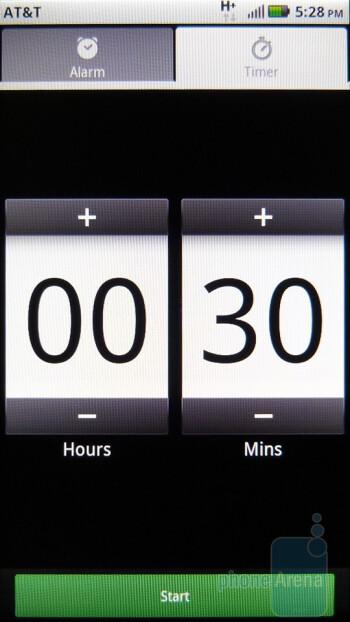 The Alarm & Timer app - Motorola ATRIX 4G Review