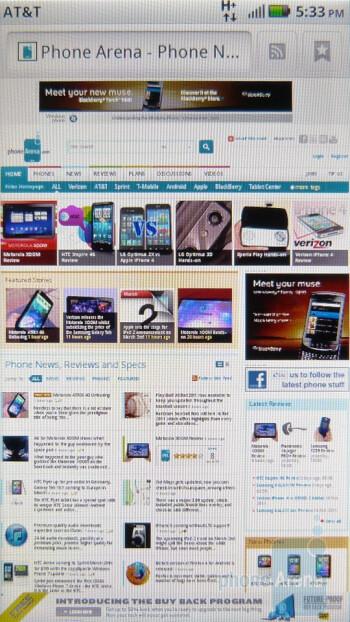 The Motorola ATRIX 4G excels in the web browsing department - Motorola ATRIX 4G Review