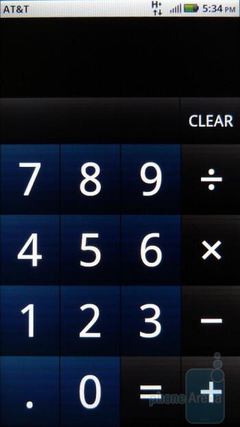The calculator inportrait mode - Motorola ATRIX 4G Review