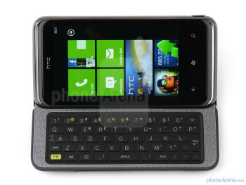HTC 7 Pro has a tilting slide-out QWERTY keyboard - HTC 7 Pro Review
