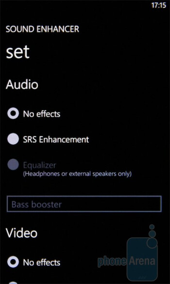 Sound Enhancement app - HTC 7 Pro Review