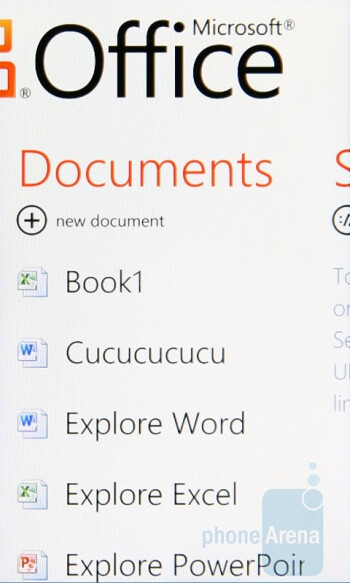 Microsoft Office - HTC 7 Pro Review
