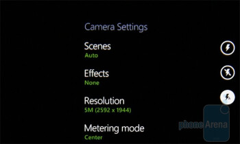 The camera interface of the HTC 7 Pro - HTC 7 Pro Review