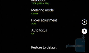 The video camera interface - HTC 7 Pro Review