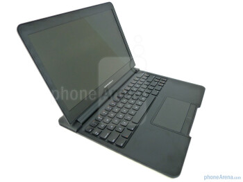 Below the keyboard, we find an oversized trackpad - Motorola ATRIX 4G Laptop Dock Review