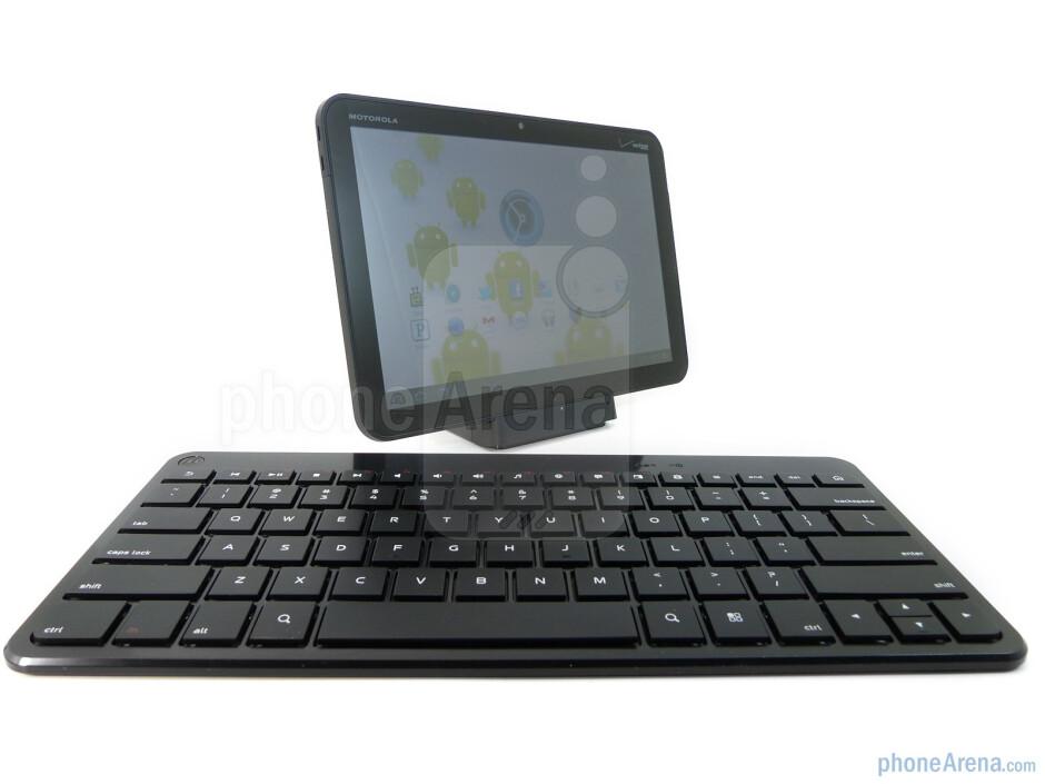 The Motorola XOOM Bluetooth Keyboard has chicklet style keys - Motorola XOOM Bluetooth Keyboard Review