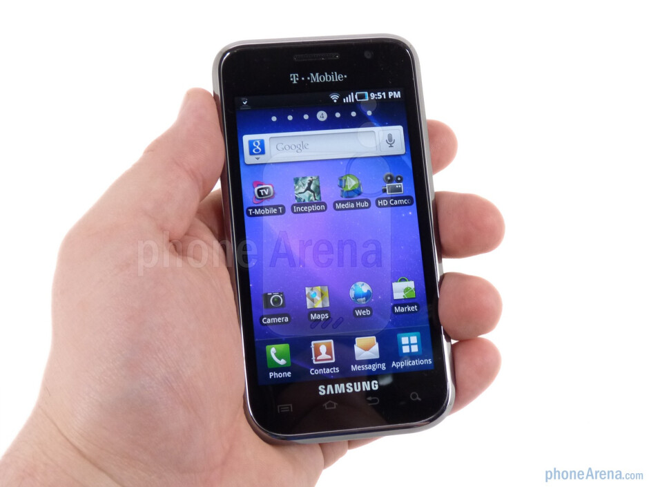 The Samsung Galaxy S 4G is an incredibly light and thin phone - Samsung Galaxy S 4G Review