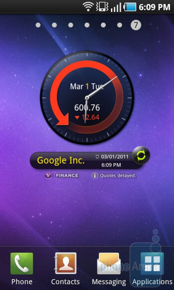 The Samsung Galaxy S 4G utilizes TouchWiz UI on top of the Android software - Samsung Galaxy S 4G Review