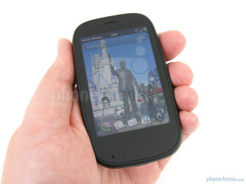 The Palm Pre 2 retains the oval and rounded shape, which does make it  comfortable to hold,and continues to use the soft-touch coating on the  sides and back - Verizon Pre 2 Review