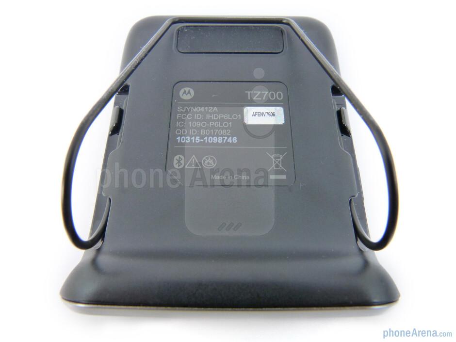 The back side of the Motorola Roadster - Motorola Roadster Review