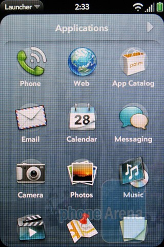 Launcher - The Palm Pre 2 comes with webOS 2.0 - Verizon Pre 2 Review