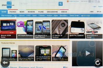 Web browsing - Verizon Pre 2 Review