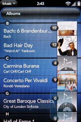 Music player - Verizon Pre 2 Review