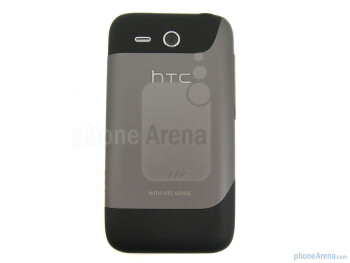 The back side and the battery door - HTC Freestyle Review