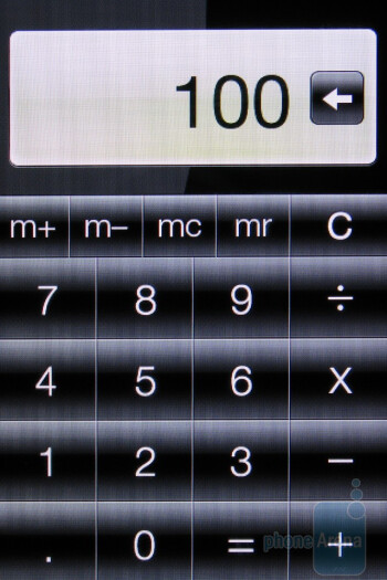 The calculator - HTC Freestyle Review