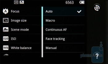 Camera interface - LG Optimus Black Preview