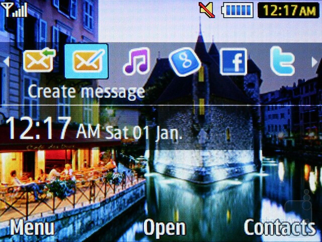 The homescreen - Samsung Ch@t 335 Preview