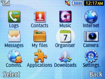 The main menu - Samsung Ch@t 335 Preview