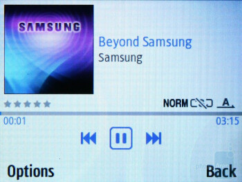The music player - Samsung Ch@t 335 Preview