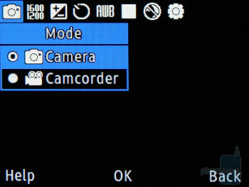 The camera interface - Samsung Ch@t 335 Preview