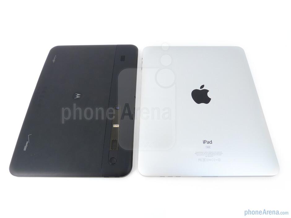 Back - The Motorola XOOM (bottom, left) and the Apple iPad (top, right) - Motorola XOOM vs Apple iPad