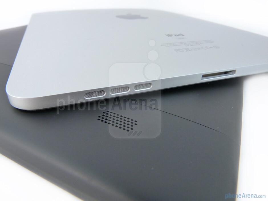 Speakers - The Motorola XOOM (bottom) and the Apple iPad (top) - Motorola XOOM vs Apple iPad