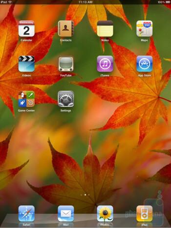 The interface of the Apple iPad - Motorola XOOM vs Apple iPad
