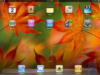 The interface of the Apple iPad - Motorola XOOM vs Apple iPad