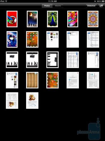 The gallery app of the Apple iPad - Motorola XOOM vs Apple iPad