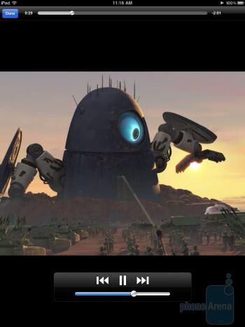 Video playback on the Apple iPad - Motorola XOOM vs Apple iPad