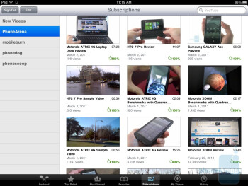 The YouTube app in the Apple iPad - Motorola XOOM vs Apple iPad