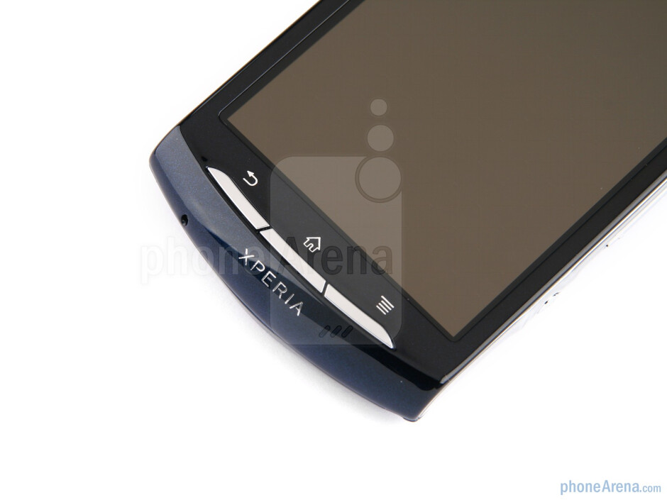 Just above the screen is a 0.3-megapixel front-facing camera - Sony Ericsson Xperia neo Preview