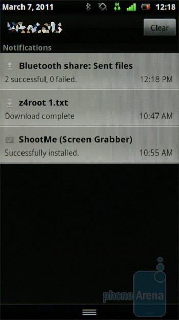 Notifications - The UX interface of the Sony Ericsson Xperia neo - Sony Ericsson Xperia neo Preview