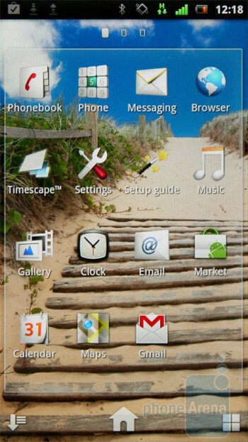 Main menu - The UX interface of the Sony Ericsson Xperia neo - Sony Ericsson Xperia neo Preview