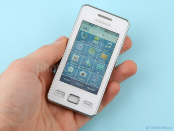 The Samsung Star II feels very light in the hand - Samsung Star II Review