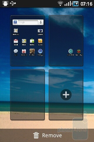 The overview of the homescreen pages - Samsung Galaxy Ace Review