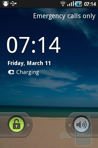 The unlock screen - Samsung Galaxy Ace Review