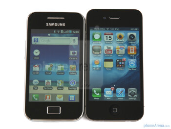 Samsung Galaxy Ace до Apple iPhone 4 - Samsung Galaxy Ace Ревю