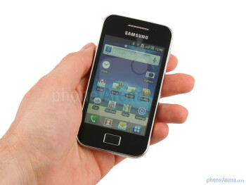 The Samsung Galaxy Ace delivers a body with a subtle yet noticeable similarity to Apple's iPhone 4. - Samsung Galaxy Ace Review