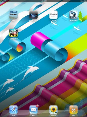 The  interface of the Apple iPad 2 - Samsung Galaxy Tab 10.1 vs Apple iPad 2