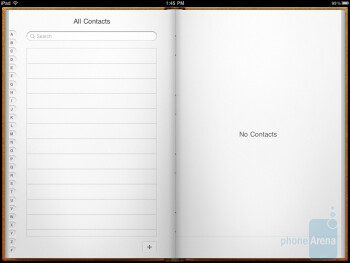 The contacts app - Apple iPad 2 Review