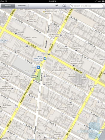 Google Maps on the Apple iPad 2 - Apple iPad 2 vs Motorola XOOM