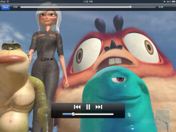 The video player of Apple iPad 2 - Samsung Galaxy Tab 10.1 vs Apple iPad 2