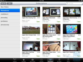 The YouTube app on the Apple iPad 2 - Apple iPad 2 vs Motorola XOOM