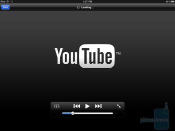 The YouTube app of the Apple iPad 2 - HP TouchPad vs Apple iPad 2