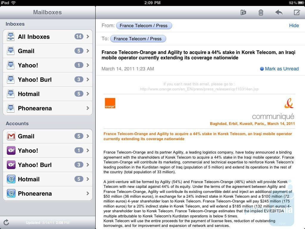 how to delete mail app on ipad 2